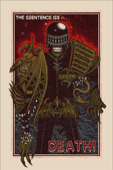 Mondo Judge Death Poster - Regular