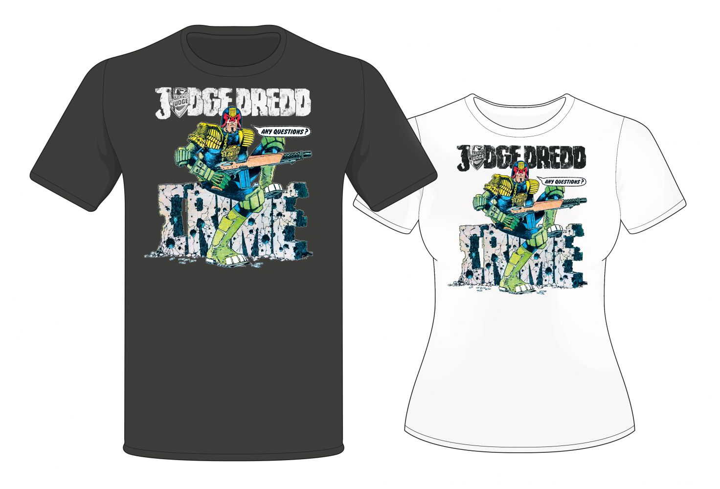 Judge Dredd 'Any Questions' McMahon T-Shirt