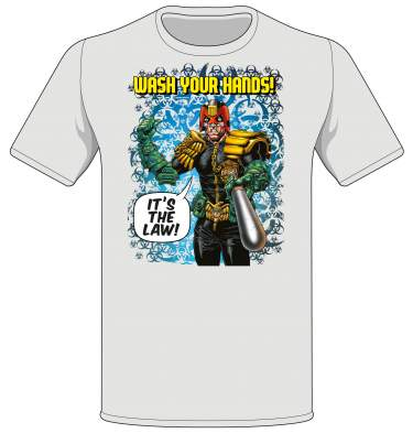 Dredd 'Wash your Hands!' T-shirt