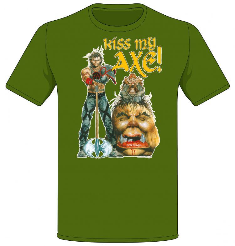 Sláine 'Kiss My Axe!' Fairy Troll T-shirt