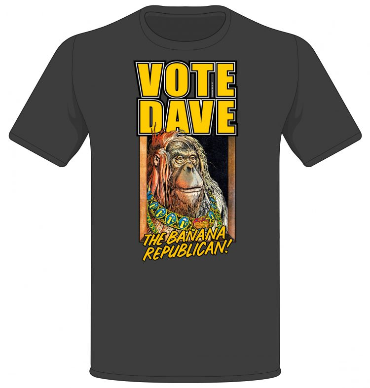 'Vote Dave! The Banana Republican' T-shirt