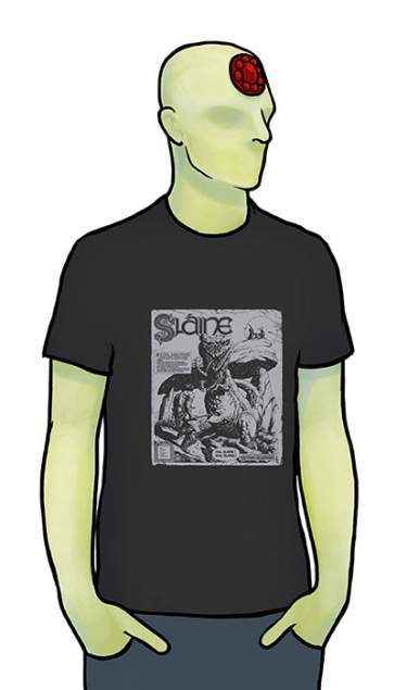 Sláine 30th Dinosaur Black T-Shirt