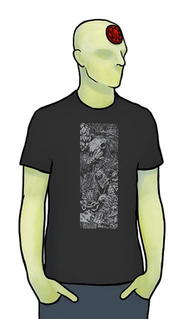Sláine 30th Skull Black T-Shirt