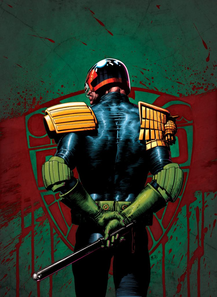 A4 Tom Foster Judge Dredd Poster