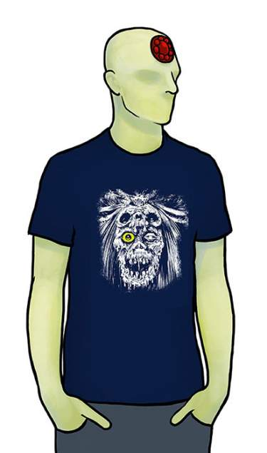 Sláine 30th Feg Yellow Eye Blue T-Shirt