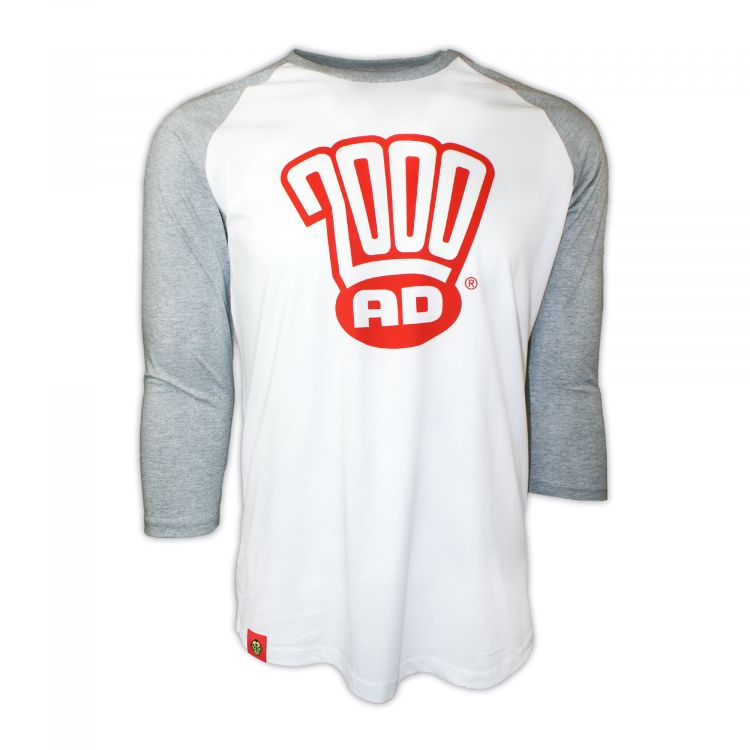 PREMIUM Contemporary 2000 AD Logo Baseball T-Shirt