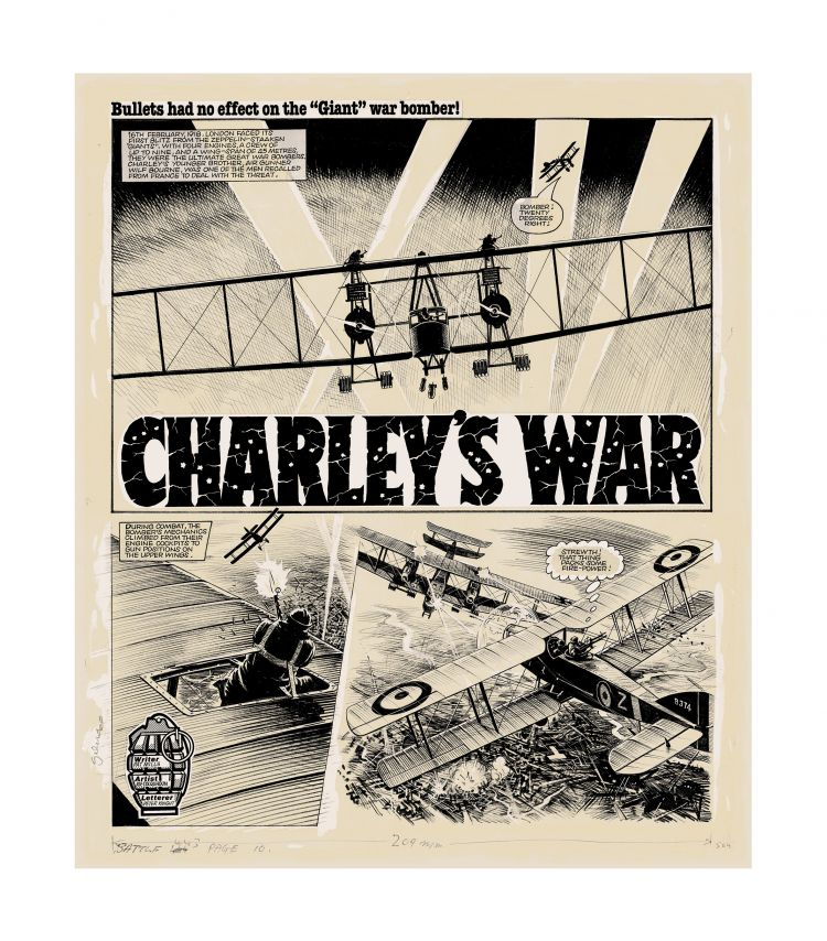 Original Charley's War Art: Limited edition screen print - Paper