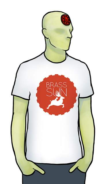 Brass Sun White T-Shirt