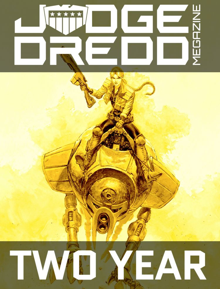 Two Year Judge Dredd Megazine Subscription