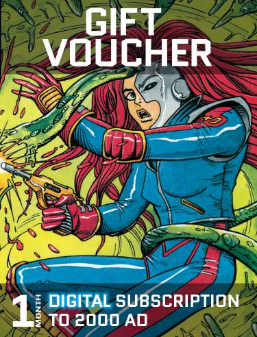 Gift Voucher for a Month's Digital Subscription to 2000 AD
