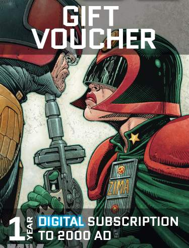 Gift Voucher for a Year's Digital Subscription to 2000 AD
